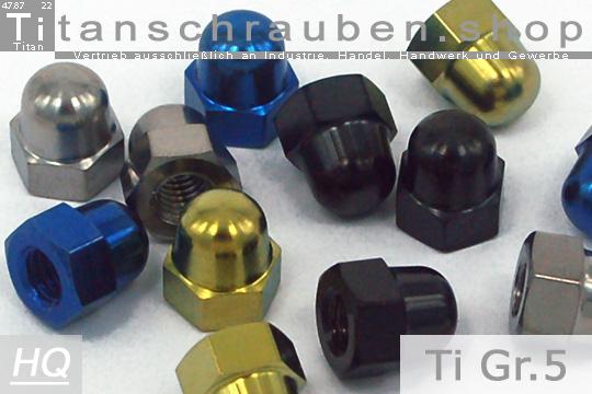 Schwarz Titan DIN 934 Grade 5 Muttern