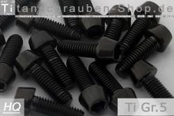 Grade 5 M10x1,5 x 30mm konisch DIN912-2 Stück Titan Schraube neu