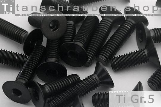 1 StückTitanschraube mit Senkkopf DIN 7991 Titan Grade 5 M3X8  Material 3.7165